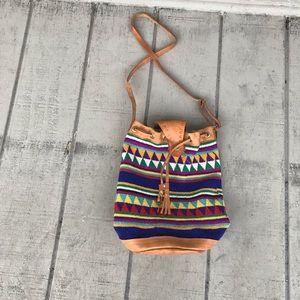 Bohemian exotic leather crossbody purse